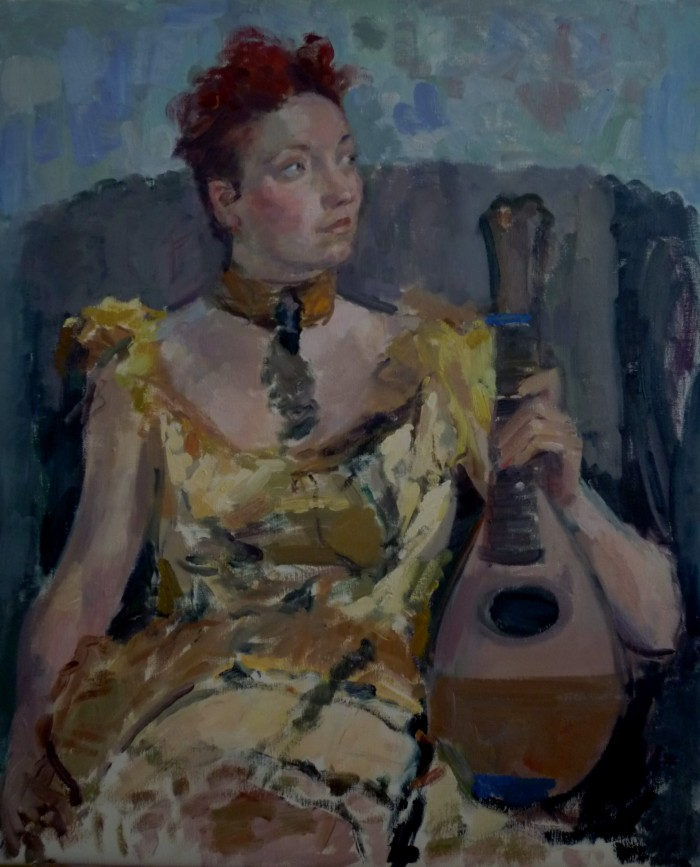 1 Young Woman with Mandolin