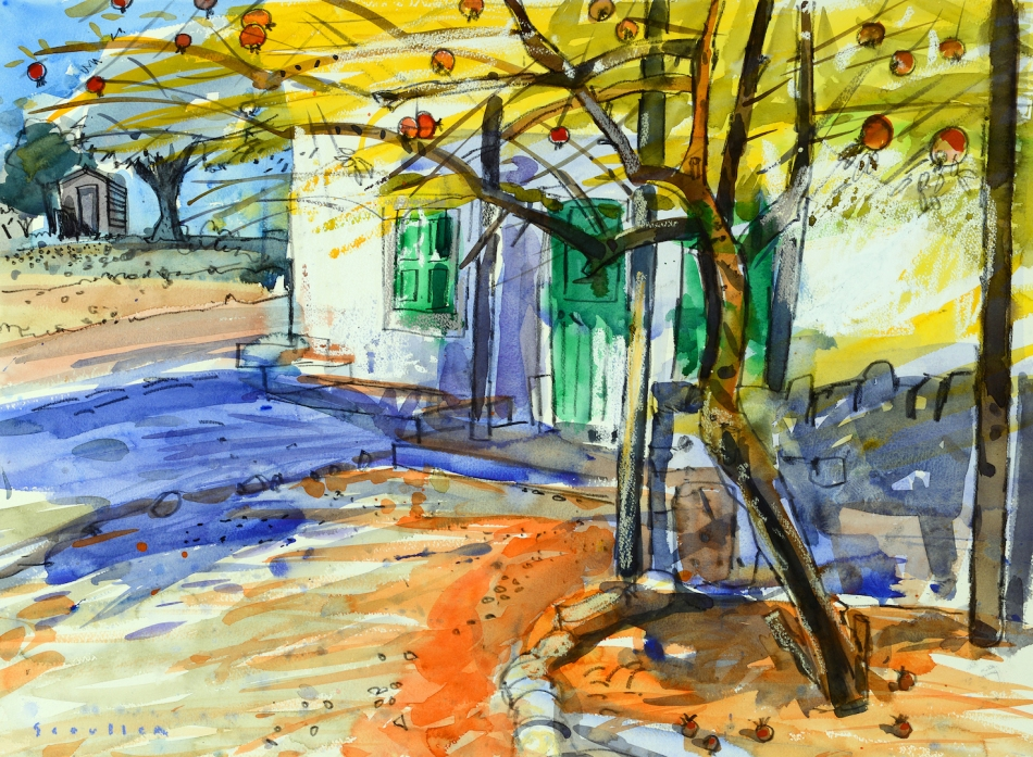 •Under a Pomegranate Tree, Palhagueira_001