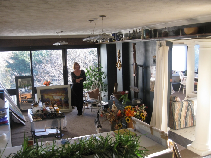 Hazel in her Studio
