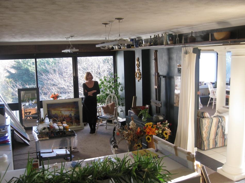 Hazel in her Studio