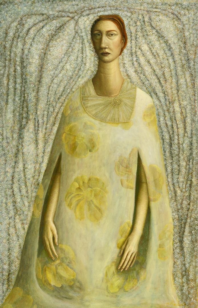 Yellow flowered dress copy