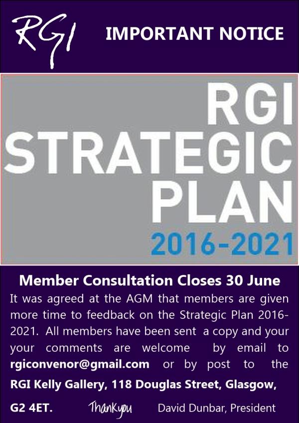RGI Strategic Plan Consultation Closes 30 06 2016