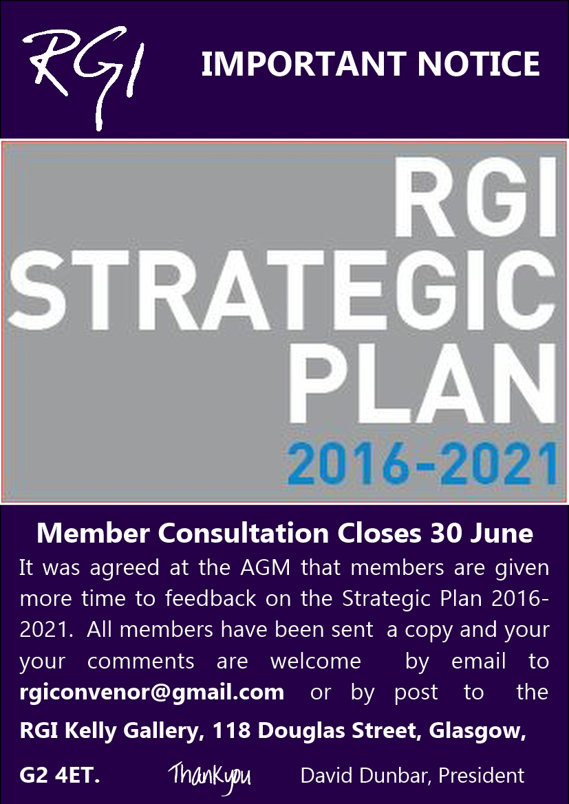 RGI Strategic Plan Consultation Closes 30 06 2016